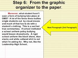 square graphic organizer lesson school uniforms next paragraph 3 rd 22