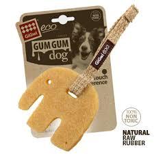 <b>GiGwi Игрушка</b> для собак <b>Eco Gum Gum</b> Слон большой 10 см ...