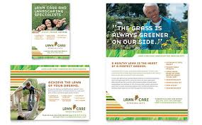 lawncare ad lawn care mowing flyer ad template design