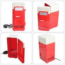 Cổng USB 5V USB Trên Xe Hơi Tủ Lạnh Mini Tủ Lạnh đồ uống mát lạnh tích hợp  đèn LED Không cần pin|