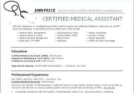 Medical Assistant Resume Objective Inspiration 3519 Medical Assistant Resume Examples Medical Tant Resumes Templates