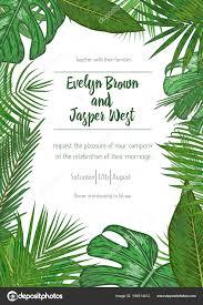 Invitation Card Sample Wedding Event Invitation Card Template Exotic Tropical Jungle R