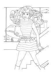 Kleurplaat Barbie Animaatjesnl