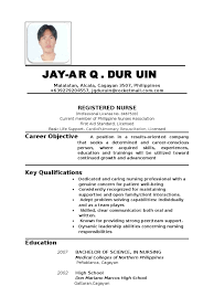 Resume For Nurses Applying Abroad Free Resume Example And