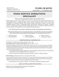 food resumes template food resumes