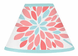 turquoise and c emma lamp shade by sweet jojo designs to enlarge