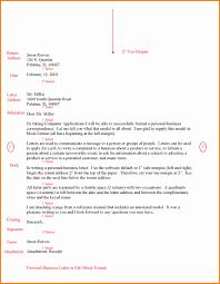 Letter Format Full Block Fullblockbusinessletterexg Example Business
