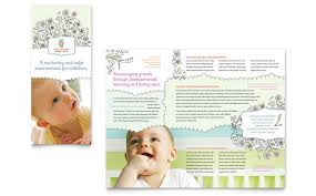 baby pamphlets child care tri fold brochure templates word publisher