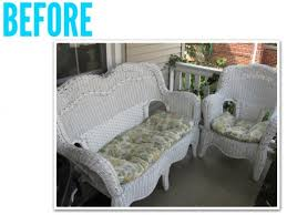 painted wicker furniturewicker furniture makeover  before  after  Scoutie Girl