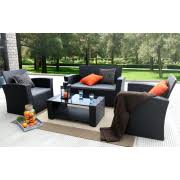 image black wicker outdoor furniture. baner garden outdoor furniture complete patio wicker rattan set black 4pieces image w