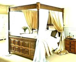 King Size Canopy Bed Frame Curtain With Curtains – acojais.com