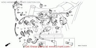 honda xr200r 1984 (e) australia wire harness c d i unit ignition Lt250r Wiring Diagram wire harness c d i unit ignition coil schematic 86 lt250r wiring diagram