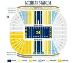 Notre Dame Stadium Detailed Seating Chart Details About 2 Premium Seating Tickets Michigan Wolverines Football Vs Notre Dame 10 26 19
