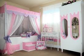 Retro Teenage Bedroom Furniture Fun Little Girl Room With Canopy Bed Also Retro