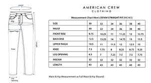 American Crew Mens Straight Fit Dark Blue Jeans 36 Acjn408 36