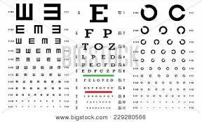 Eye Chart Poster Eye Test Chart Vector Vision Exam Optometrist Check