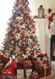 Plaid Christmas Tree The Fancy Shack Christmas Home Tour 2015 Christmas Trees