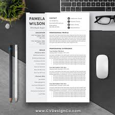 Professional Creative Resume Template Best Selling Resume Cover