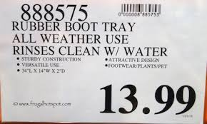 Decorative Boot Tray Birdrock home rubber boot tray 100 inch decorative boot tray Lark 75