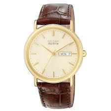 citizen watches men s ladies eco drive h samuel citizen men s gold plated eco drive watch product number 8191964