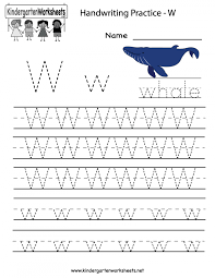 Math Worksheets Kindergarten Writing Practice Cursive Handwriting ...