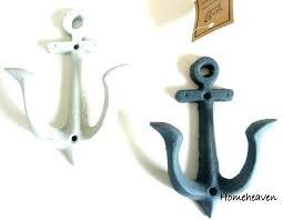 anchor wall hooks hook set 2 iron nautical keys towel robe scarf within decor 9 wallpaper anchor wall