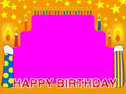 february birthday backgrounds. Delighful Birthday Stars  Happy Birthday Frame Candles Stars Free Powerpoint Background To February Backgrounds R
