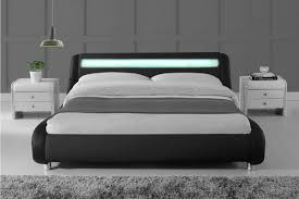 modern king bed frame. Madrid LED Lights Modern Designer Black Bed Frame - Single/Double/King Size King