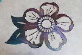 on metal flower wall art purple with metal flower wall art purple and blue