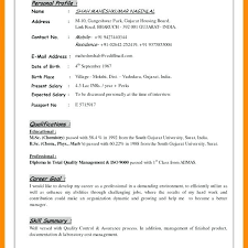 Personal Profile In Resume Example Of A Personal Profile On A Cv