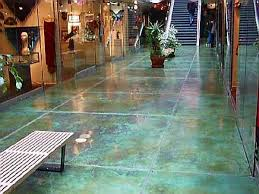 blue stained concrete patio. Fine Stained Delightful Blue Stained Concrete Patio With N