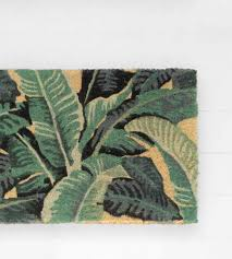 Tropical Leaves Doormat | Doormat, Leaves and Traditional