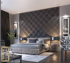 Charcoal Sheet Wall Design Charcoal Quilted Bedroom Feature Modern Accent Wall Ideas