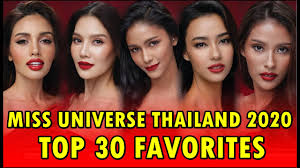 Miss Universe Thailand 2020 | Top 30 Favorites - Own That Crown