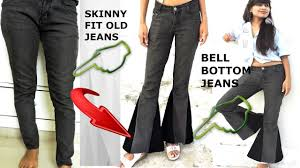 diy convert old skinny fit jeans into bell bottom jeans diy bell bottom pants