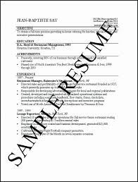 First Job Resume Cool Example Of A Job Resume Example Of Simple Resume Great Sample Sample