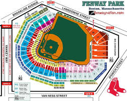Texas Rangers Seating Chart With Seat Numbers Fenway Seating Fenwaynation Fenway Park Seating Chart