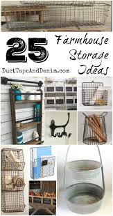 25 Farmhouse Storage Ideas to organize your kitchen, bathroom, and other  areas in your