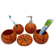 Sports Bathroom Accessories Basketball Bathroom Accessories 5 Piece Collection Set Review