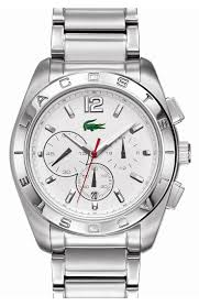 lacoste watches trends approx band width 24mm approx case diameter 46mm water resistant to 5 atm 50 meters stainless steel mineral crystal by lacoste
