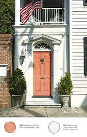 Coral Front Door Paints Exterior Stains Grand Entrance Benjamin Moore And Auras