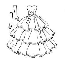 Small Picture Wedding Dresses Coloring Page Free Download
