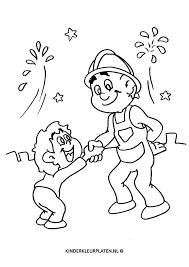 Kleurplaat Brandweerman Beroepen