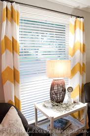 Diy Painted Chevron Curtains 2 Blinds On The Window White