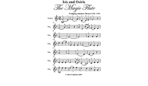 Free violin and piano sheetmusic; Amazon Com Isis And Osiris Magic Flute Mozart Easy Violin Sheet Music Ebook Mozart Wolfgang Amadeus Silvertonalities Kindle Store