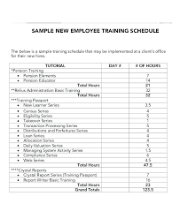 Sample Workout Calendar Simple Employee Training Schedule Templates 44 Free Word Format Template