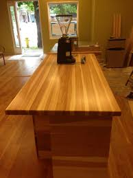 prefinished hickory butcher block countertop wood hickory