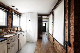 the brick condo furniture. View In Gallery Spacious Modern Kitchen With Exposed Brick Walls Linking The Reception And Bedroom Condo Furniture
