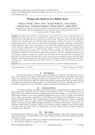 Pdf Design And Analysis Of Shifter Kart