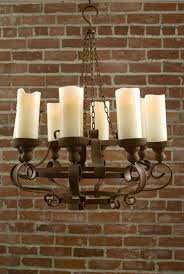 living captivating outdoor battery operated chandelier 24